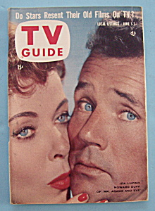 Tv Guide - June 1-7, 1957 - Ida Lupino & Howard Duff