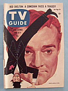 Tv Guide - June 15-21, 1957 - Red Skelton