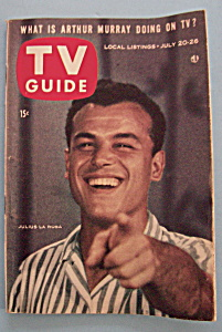Tv Guide - July 20-26, 1957 - Julius La Rosa
