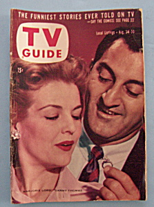 Tv Guide - August 24-30, 1957 - D. Thomas & M. Lord