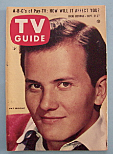 Tv Guide - September 21-27, 1957 - Pat Boone