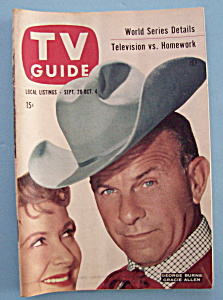 Tv Guide - September 28-october 4, 1957 - Burns & Allen