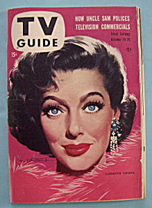 Tv Guide - October 19-25, 1957 - Loretta Young