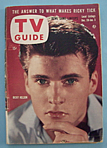 Tv Guide - Dec 28, 1957-jan 3, 1958 - Ricky Nelson