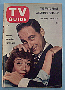 Tv Guide - Jan 25-31, 1958 - S. Caesar & I. Coca