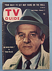 Tv Guide - February 1-7, 1958 - Walter Winchell