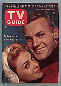 Tv Guide - February 8-14, 1958 - Tab Hunter/peggy King