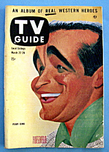 Tv Guide - March 22-28, 1958 - Perry Como