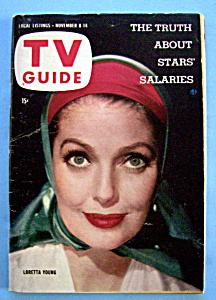 Tv Guide - November 8-14, 1958 - Loretta Young