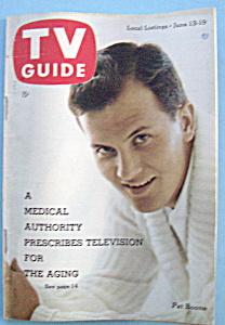 Tv Guide - June 13-19, 1959 - Pat Boone