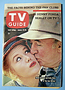 Tv Guide - January 23-29, 1960 - W. Brennan & K. Nolan
