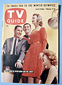 Tv Guide - February 13-19, 1960 - Peter Gunn/mr. Lucky