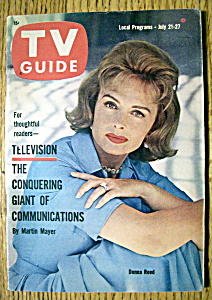 Tv Guide - July 21-27, 1962 - Donna Reed