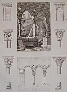 Cloitre De L'Abbaye De Moissac (1852 Lithograph) (Image1)