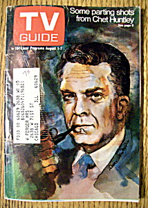 TV Guide - August 1-7, 1970 - Chet Huntley (Image1)