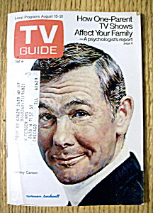 Tv Guide - August 15-21, 1970 - Johnny Carson