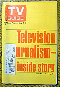 Tv Guide-may 15-21, 1971-television Journalism