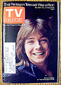 Tv Guide-may 22-28, 1971-david Cassidy