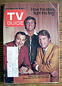 Tv Guide - August 28-september 3, 1971 - Football