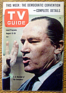Tv Guide-august 22-28, 1964-e. G. Marshall
