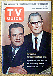 Tv Guide-july 4-10, 1964-raymond Burr