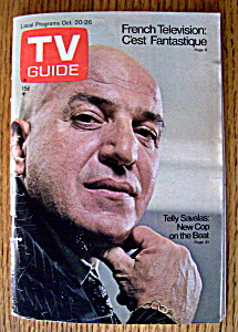 Tv Guide - October 20-26, 1973 - Telly Savalas