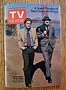 Tv Guide-february 16-22, 1974-m. Douglas & K. Malden