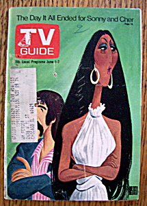 Tv Guide - June 1-7, 1974 - Sonny & Cher