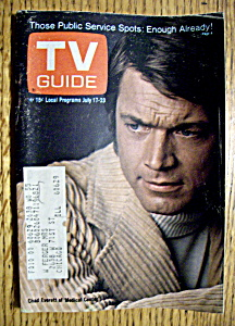 Tv Guide - July 17-23, 1971 - Chad Everett