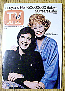 Tv Guide - March 31-april 6, 1973 - L. Ball & D. Arnaz