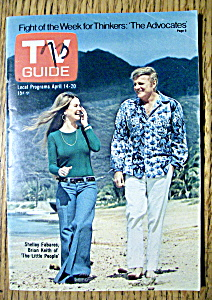 Tv Guide - April 14-20, 1973 - S. Fabares & B. Keith