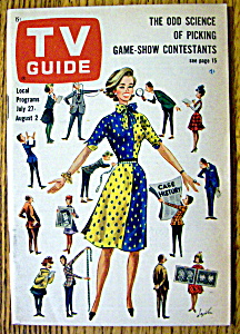 Tv Guide-july 27-august 2, 1963-game Show Contestants