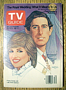 Tv Guide - July 25-31, 1981 - Prince Charles & Lady Di