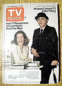 Tv Guide - November 7-13, 1981 - M. Kennedy & P. Cook