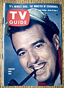 Tv Guide - March 29-april 4, 1958 - Ernie Ford