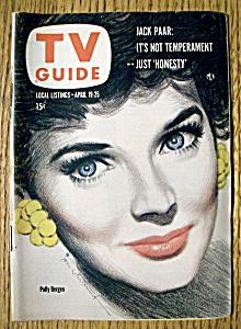 TV Guide - April 19-25, 1958 - Polly Bergen (Image1)