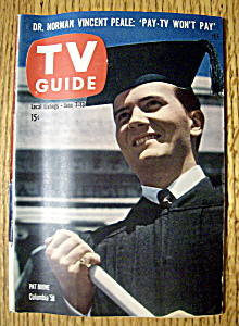 Tv Guide - June 7-13, 1958 - Pat Boone