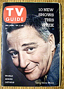 Tv Guide - September 27-october 3, 1958 - Garry Moore