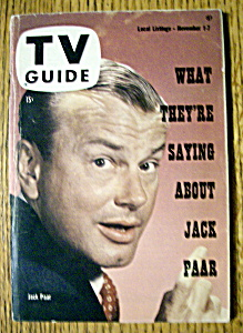 Tv Guide - November 1-7, 1958 - Jack Paar