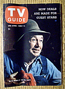 Tv Guide - March 7-13, 1959 - Walter Brennan