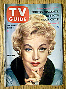Tv Guide - March 21-27, 1959 - Ann Sothern