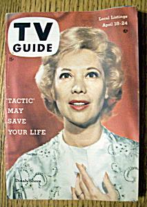 TV Guide - April 18-24, 1959 - Dinah Shore (Image1)