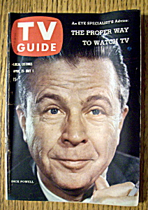 Tv Guide - April 25-may 1, 1959 - Dick Powell