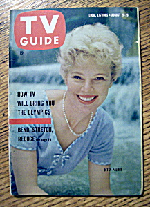 Tv Guide - August 20-26, 1960 - Betsy Palmer