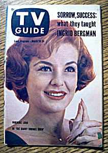 Tv Guide - March 18-24, 1961 - Marjorie Lord