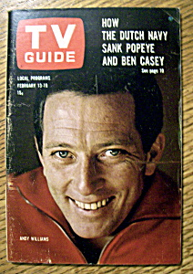 Tv Guide - February 13-19, 1965 - Andy Williams