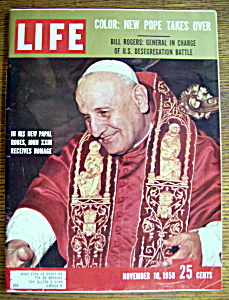 Life Magazine - November 10, 1958 - Pope John Xxiii