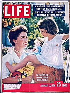 Life Magazine - February 3, 1958 - Shirley Temple (Image1)