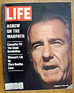 Life Magazine-october 16, 1970-spiro Agnew On Warpath