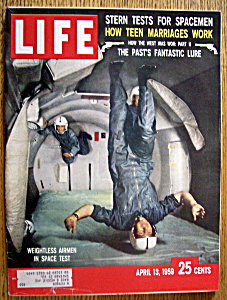 Life Magazine April 13, 1959 Airmen In Space Test